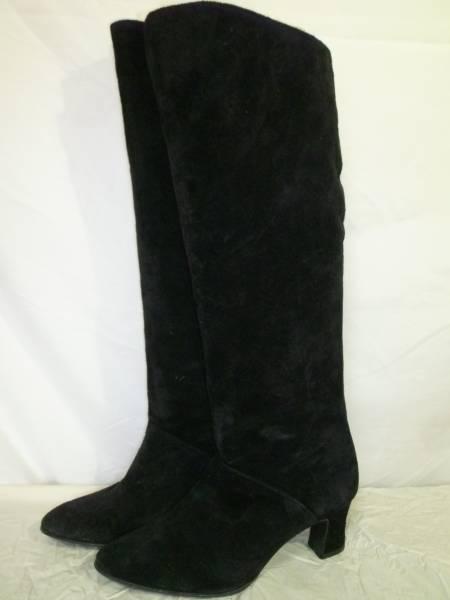 Pitti FEMININE ●スエード ロングブーツ●22cm ヒール6cm 古着でコーディネイト。